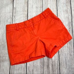 J.Crew Orange Chino Shorts